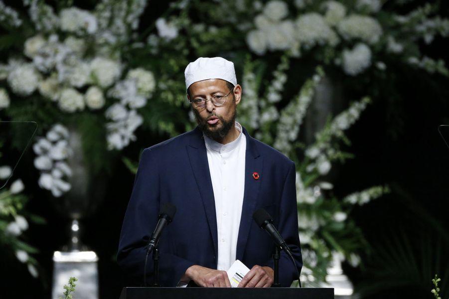 L'imam Zaid Shakir assiste à l'hommage rendu à Mohamed Ali à Louisville, le 10 juin 2016.