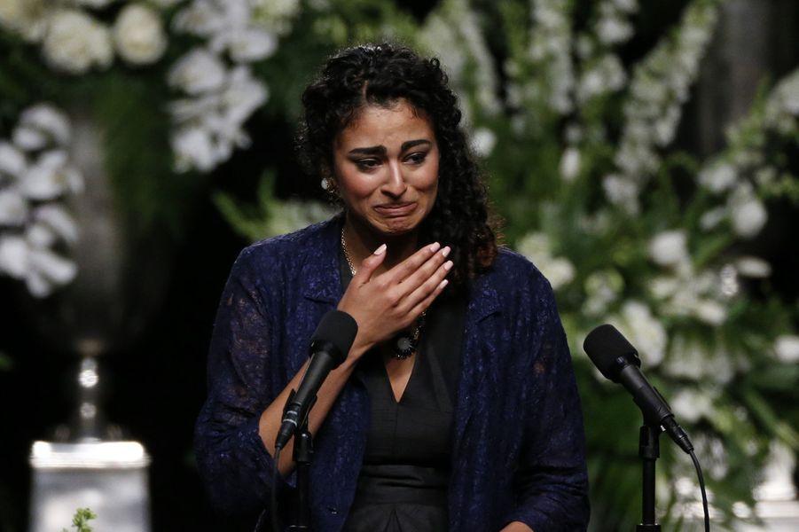Natasha Mundkur assiste à l'hommage rendu à Mohamed Ali à Louisville, le 10 juin 2016.
