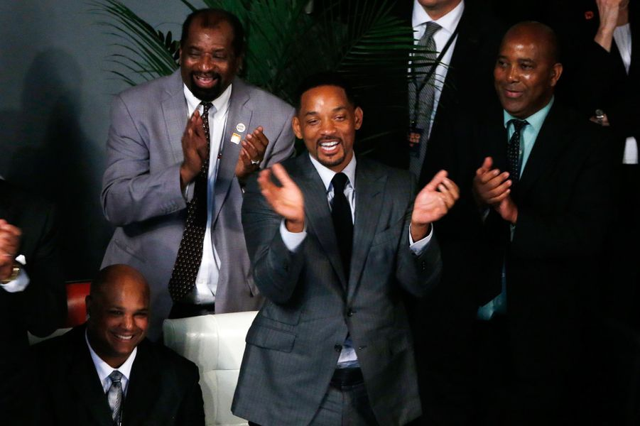 Will Smith assiste à l'hommage rendu à Mohamed Ali à Louisville, le 10 juin 2016.