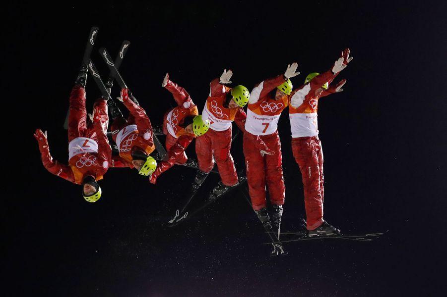 Mischa Gasser au ski acrobatique