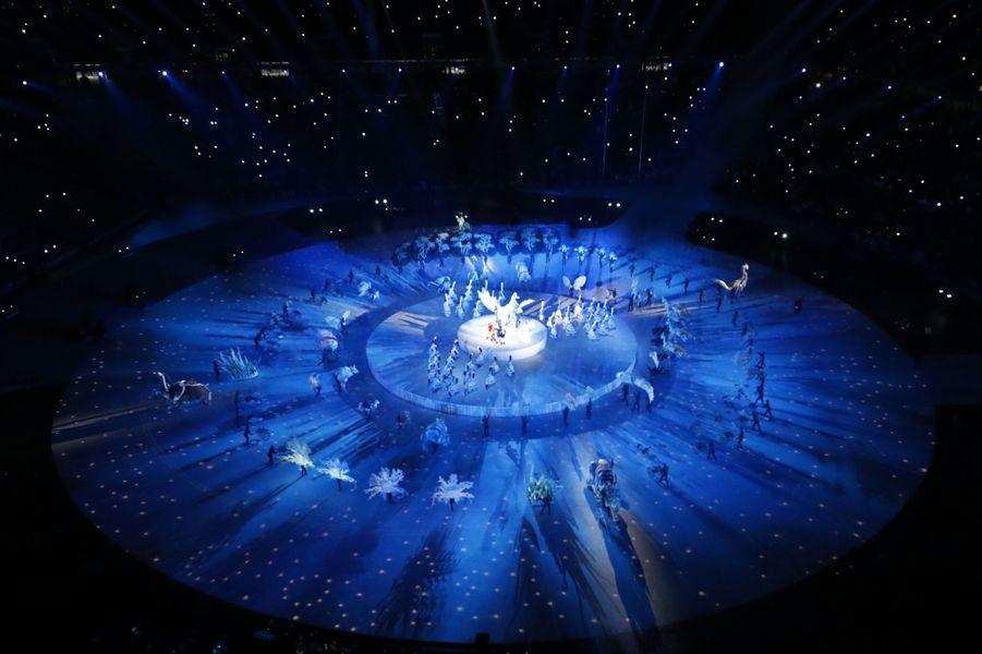 La cérémonie d'ouverture des Jeux Olympiques de Pyeongchang.