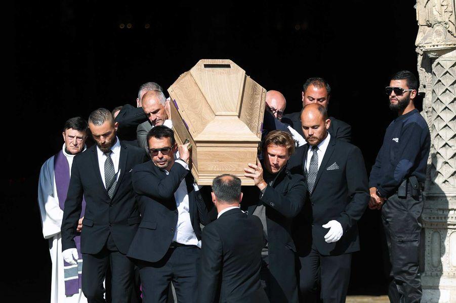 Lors des obsèques d'Anthoine Hubert à Chartres, le 10 septembre 2019.