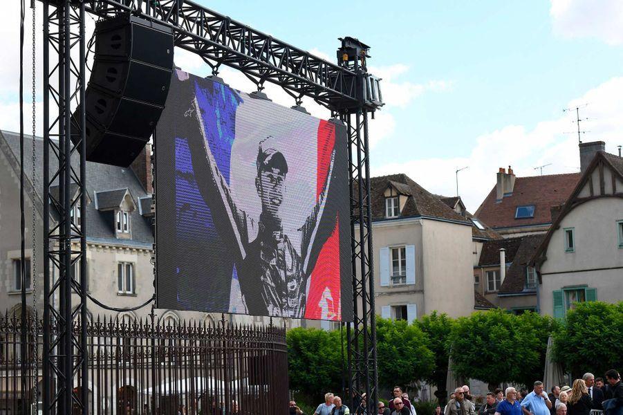Aux obsèques d'Anthoine Hubert à Chartres, le 10 septembre 2019.