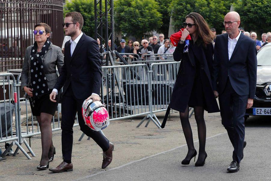 La famille d'Anthoine Hubertlors de ses obsèques à Chartres, le 10 septembre 2019.
