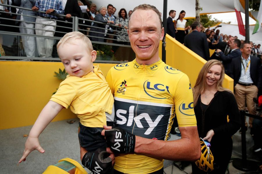 Christopher Froome en famille.