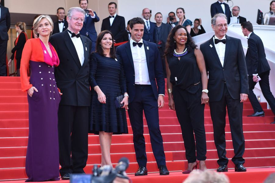 Valérie Pécresse, Bernard Lapasset,Anne Hidalgo,Tony Estanguet,Laura Flessel etDenis Massegliaau Festival de Cannes.