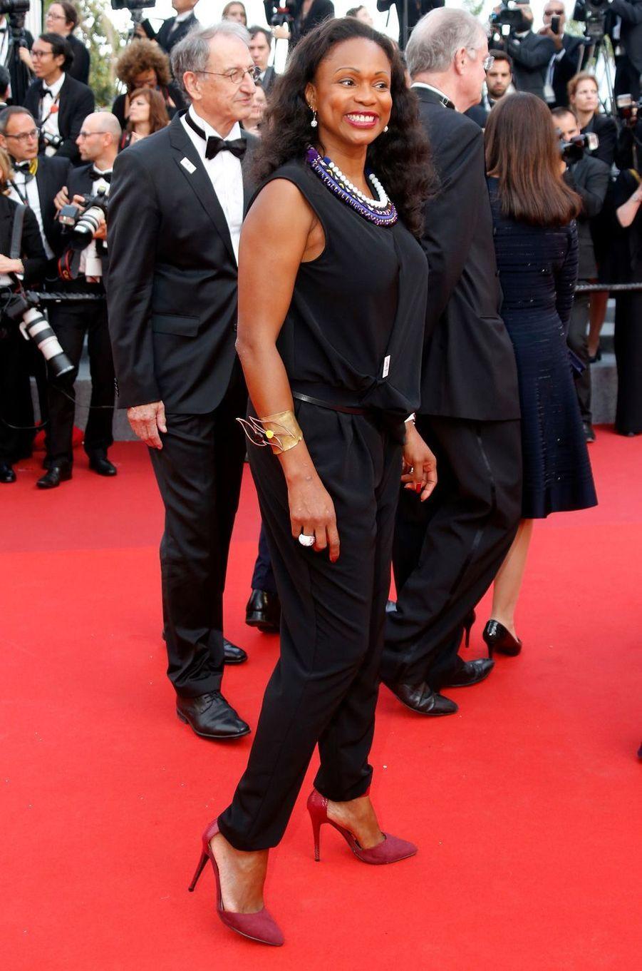 Laura Flessel, nouvelle ministre des Sports, au Festival de Cannes.