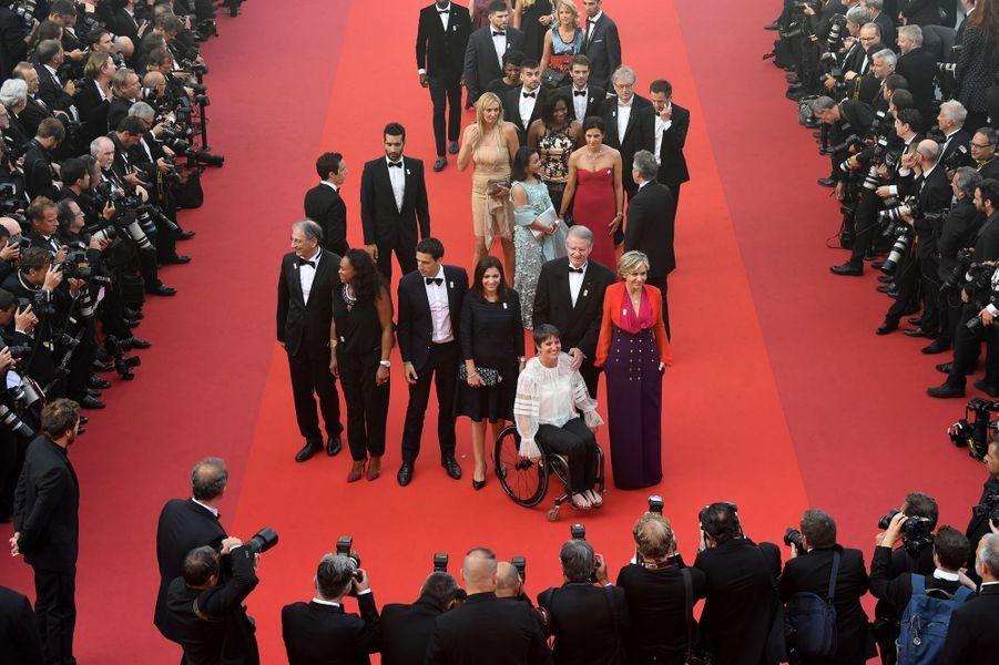 La délégation Paris 2024 mercredi soir au Festival de Cannes.