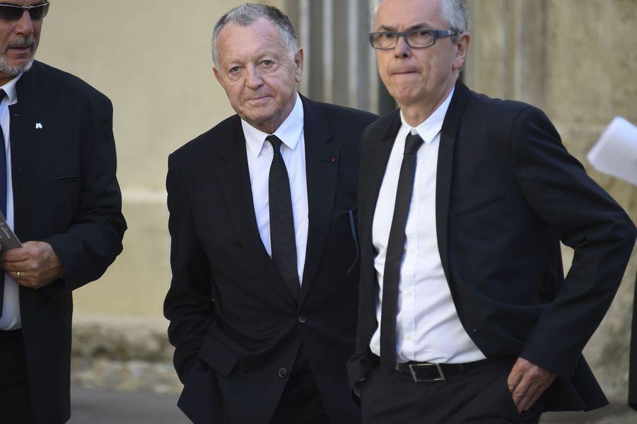 Jean-Michel Aulasaux obsèques de Louis Nicollinà Montpellier, le 4 juillet 2017.