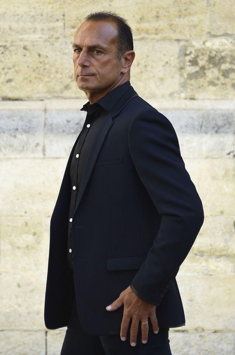 Michel Der Zakarian aux obsèques de Louis Nicollinà Montpellier, le 4 juillet 2017.