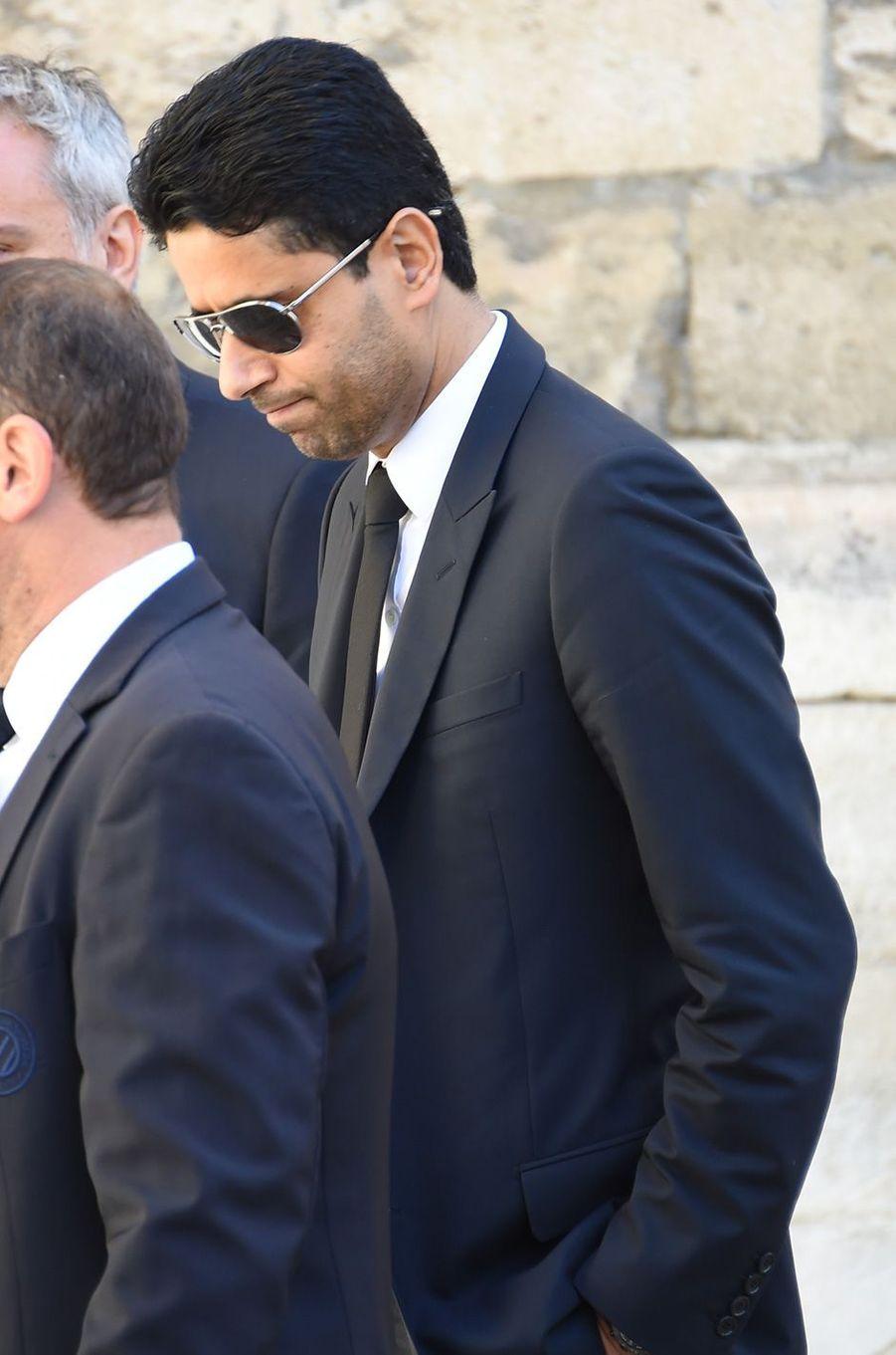 Nasser Al-Khelaïfiaux obsèques de Louis Nicollinà Montpellier, le 4 juillet 2017.