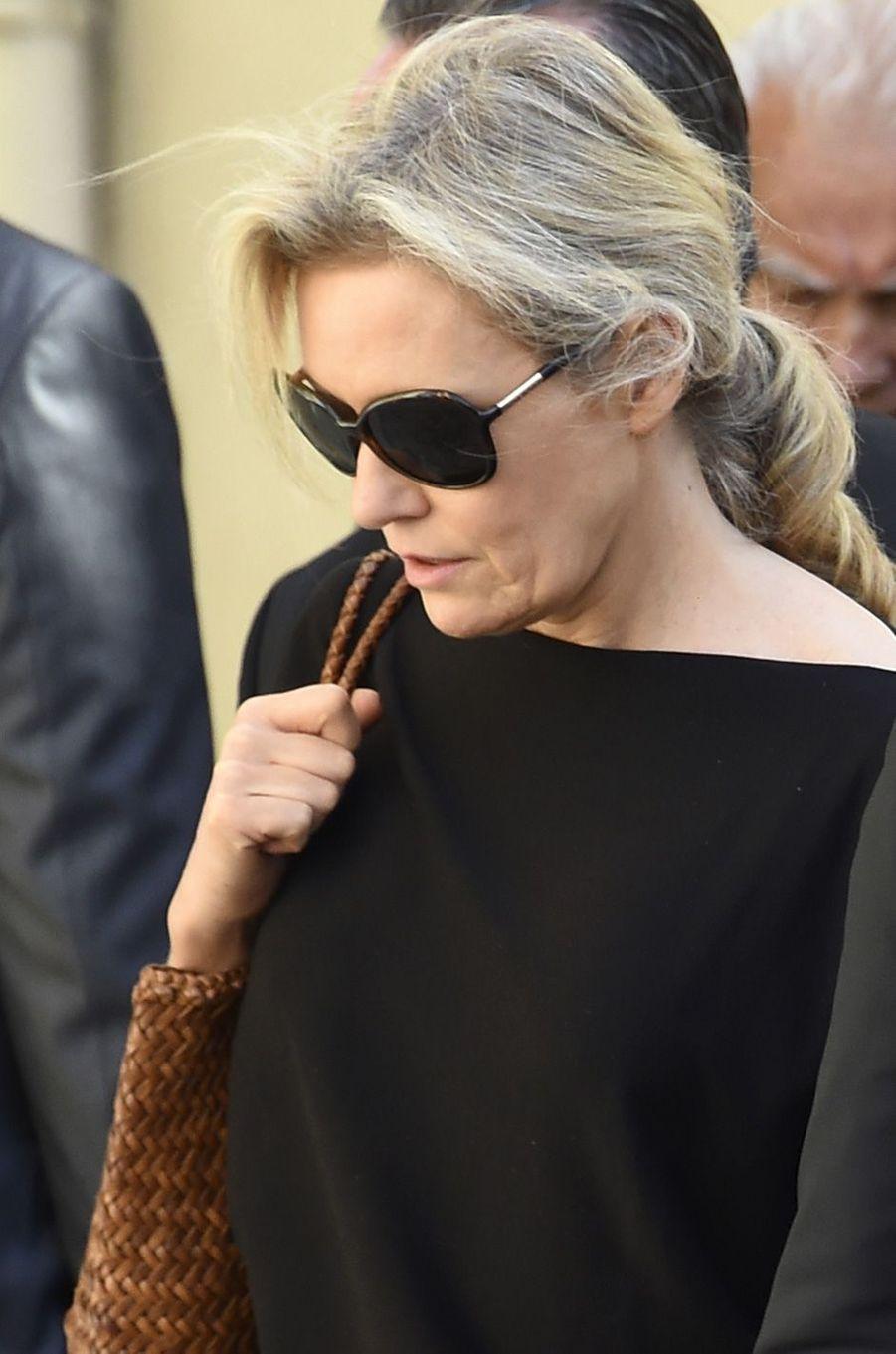 Nathalie Boy de la Touraux obsèques de Louis Nicollinà Montpellier, le 4 juillet 2017.