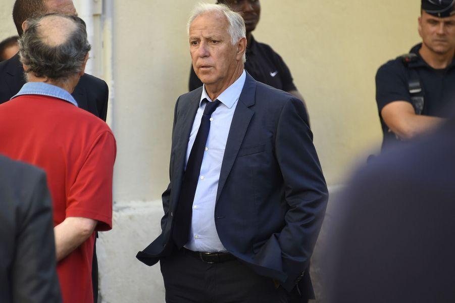 René Girard aux obsèques de Louis Nicollin à Montpellier, le 4 juillet 2017.