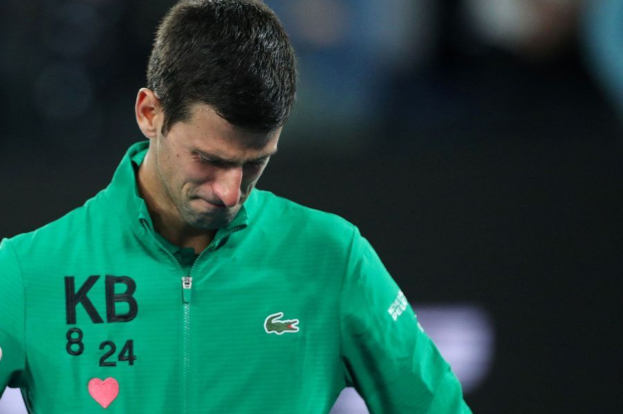 Les larmes de Novak Djokovic.
