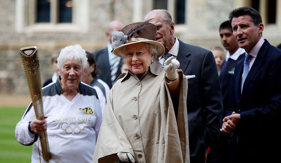 A Windsor Castle, avec Elizabeth II et le Prince Philip