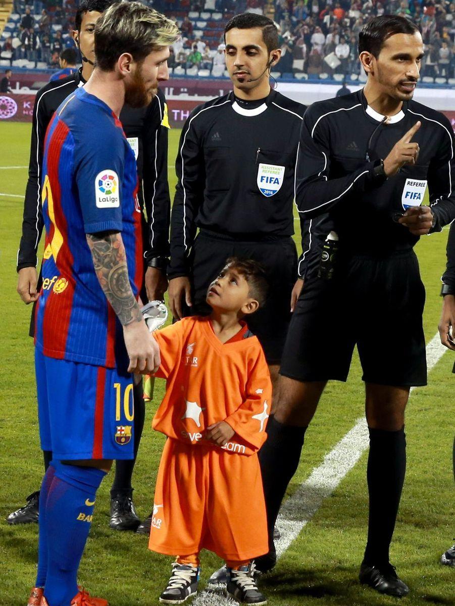 Murtaza avait des étoiles dans les yeux lors de sa rencontre avec Lionel Messi.