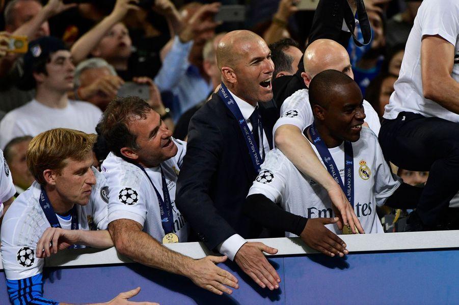 La joie de Zinédine Zidane