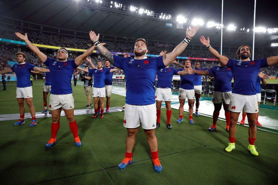 Les Bleus célèbrent la victoire