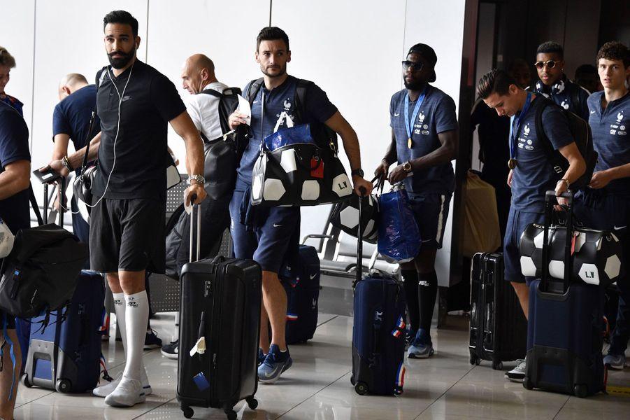 Adil Rami, Hugo Lloris, Samuel Umtiti, Florian Thauvin et Benjamin Pavard