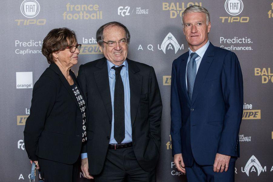 Didier Deschamps et Noël Le Graëtà la cérémonie du Ballon d'or.