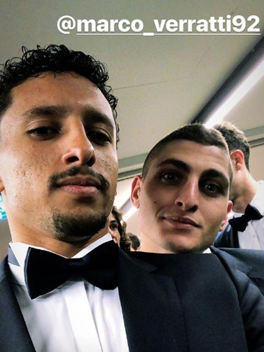 Marquinhos et Marco Verratti