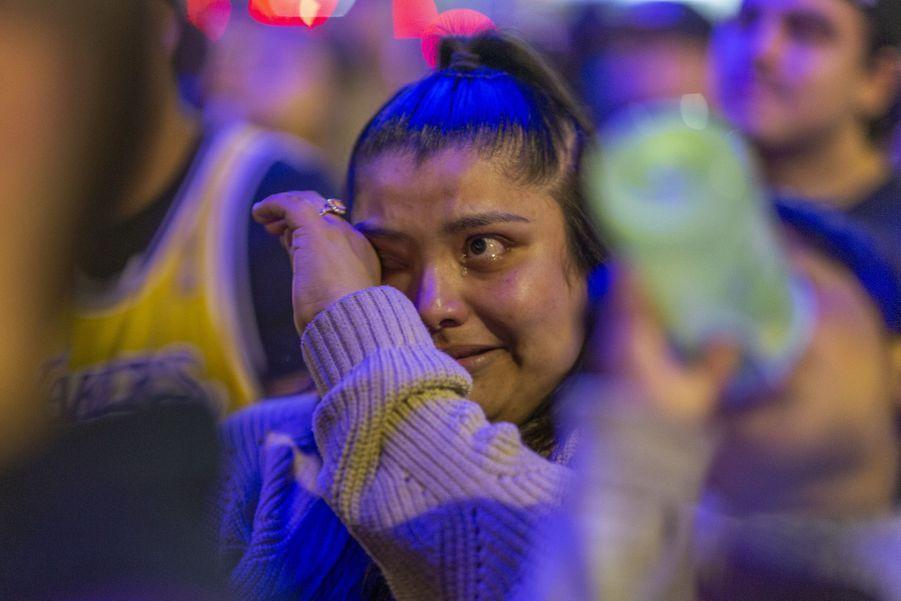 L'émotion à Los Angeles, le 31 janvier 2020.