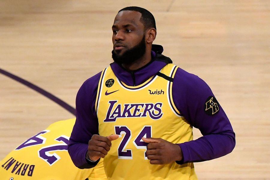 LeBron James portant le maillot 24, le 31 janvier 2020 à Los Angeles.
