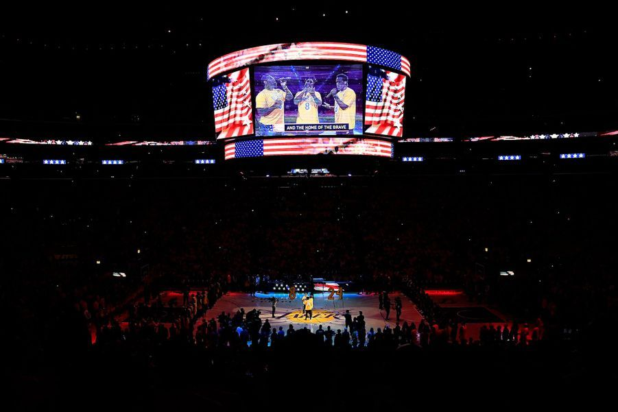 Hommage à Kobe Bryant, le 31 janvier 2020.