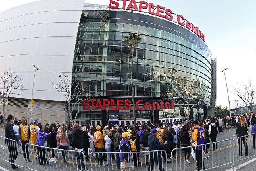 L'hommage s'est déroulé au Staples Center de Los Angeles