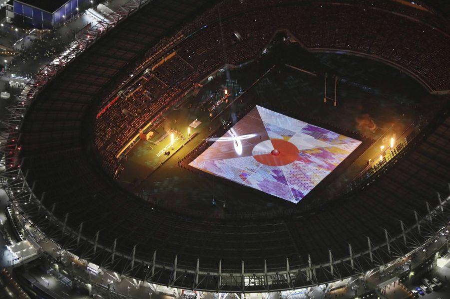 Pendant trente minutes, la cérémonie d'ouverture de la Coupe du monde de rugby a vanté la culture japonaise.