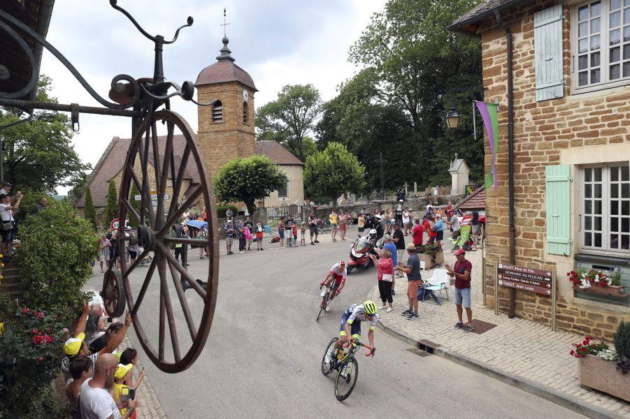 Vendredi 12 juillet, lors de l'étape Belfort - Chalon-sur-Saône.