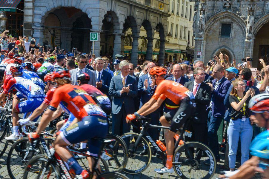 Le Roi Philippe au départ du Tour de France à Bruxelles le 6 juillet.