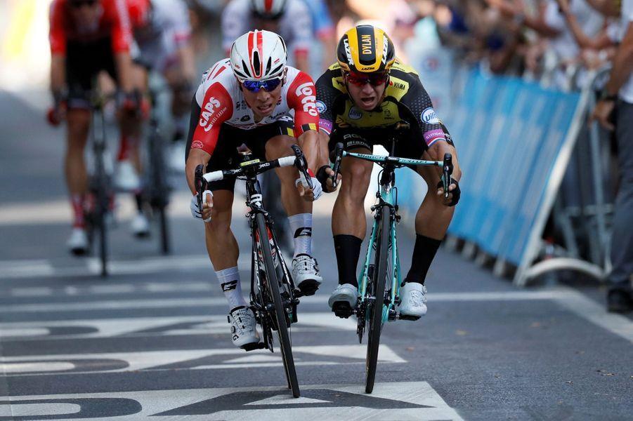 Caleb Ewan s'impose au sprint à Toulouse, le 17 juillet.