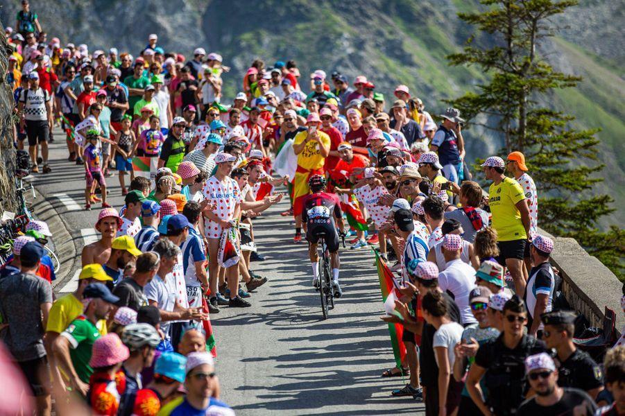 Le 20 juillet lors de l'étape entre Tarbes et Tourmalet.
