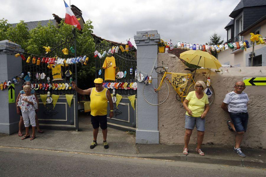 Des spectateurs sur l'étape du 20 juillet entre Tarbes et Tourmalet.