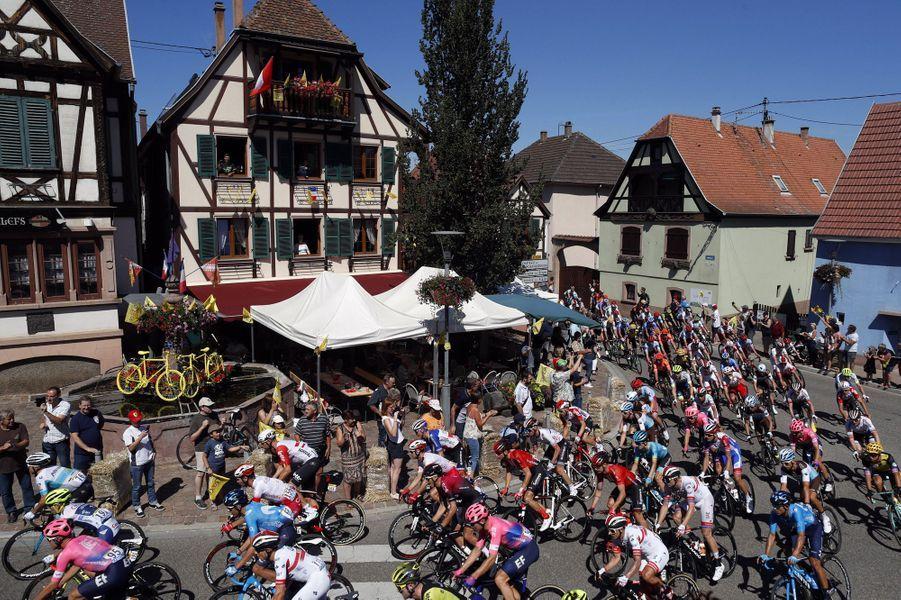 Lors de la5e étape entre Saint-Dié-des-Vosges et Colmar, le 10 juillet.