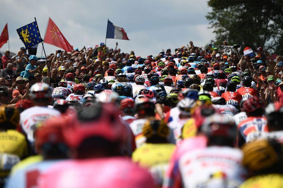 Lors de l'étape entre Belfort et Chalon-sur-Saône, le 12 juillet.