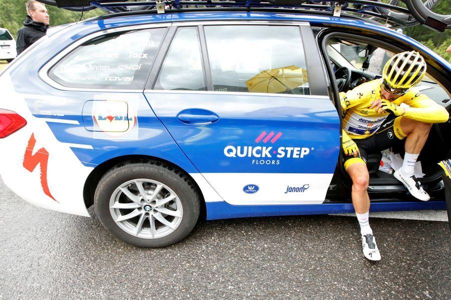 L'étape 19, vendredi 26 juillet, est arrêtée en raison de la météo,Julian Alaphilippe vient de perdre son maillot jaune.