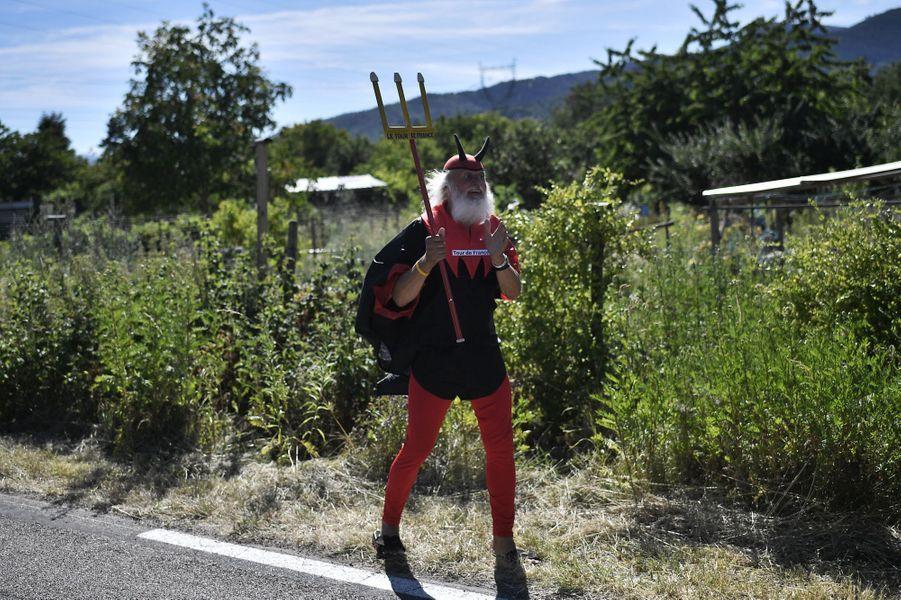"""L'incontournable """"El Diablo"""" sur les routes du Tour entre Saint-Die-des-Vosges et Colmar, le 10 juillet."""