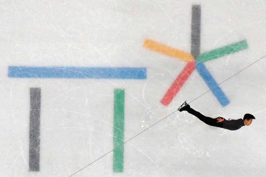 Le patineur Nathan Chan