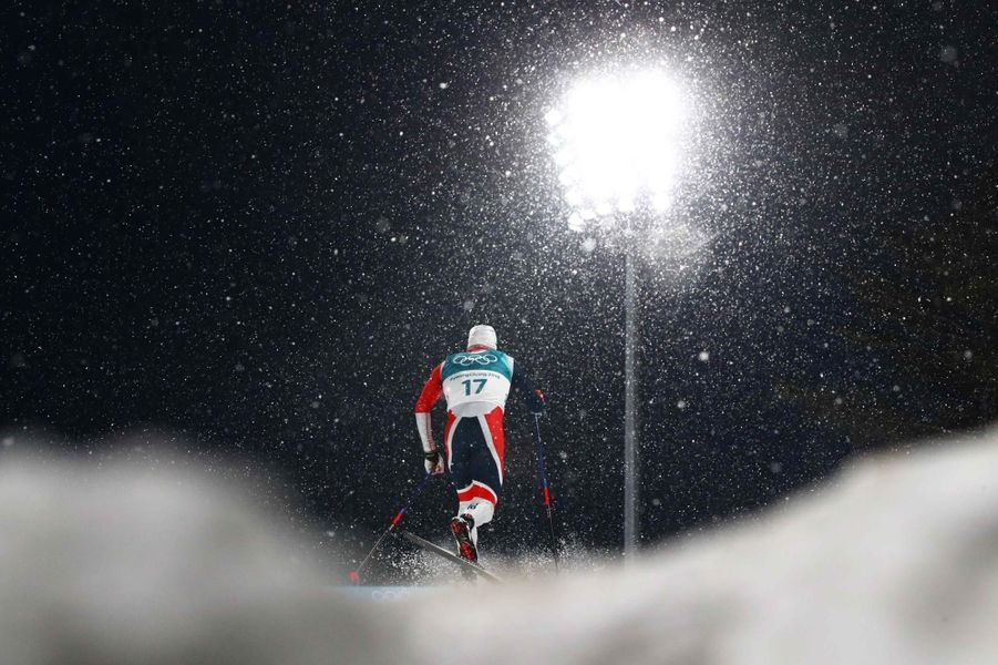 L'épreuve de ski de fond : iciPaal Golberg.