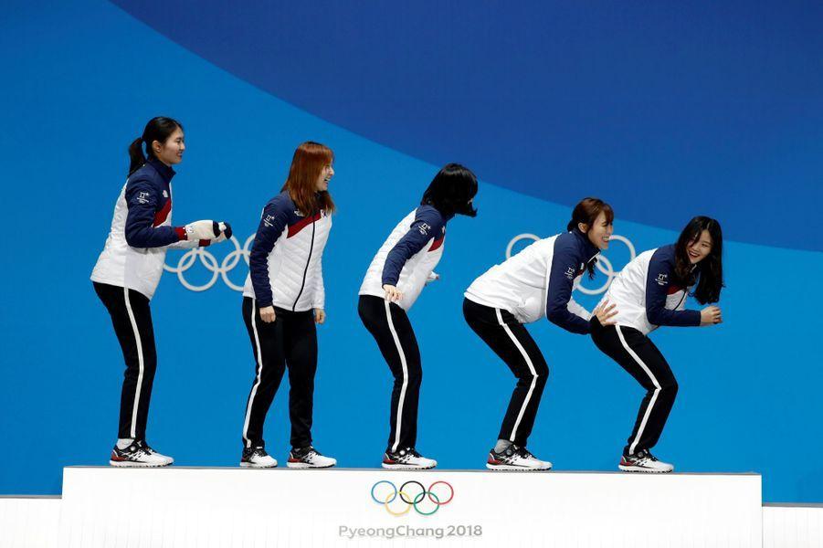 L'équipe sud-coréen de patinage de vitesse