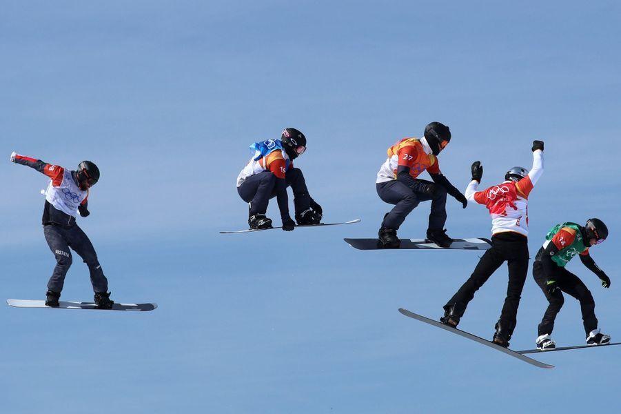 Photo prise lors de la compétition de snowboard