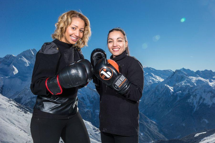 Estelle Mossely et Sarah Ourahmoune combattent au sommet de la Grande Rochette.