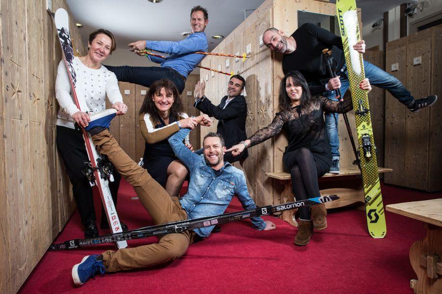 Les skieursCarole Montillet,Florence Masnada,Edgar Grospiron,Fabrice Guy,Sébastien Foucras,Sandra Laoura,Sébastien Michaud.