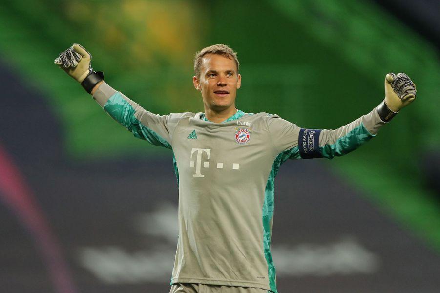Manuel Neuer savoure : le Bayern Munich est en finale.