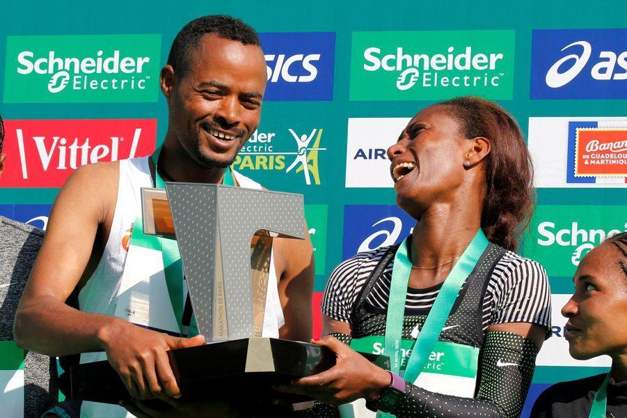 Les deux vainqueurs sont éthiopiens :Abrha Milaw et Gelete Burka.