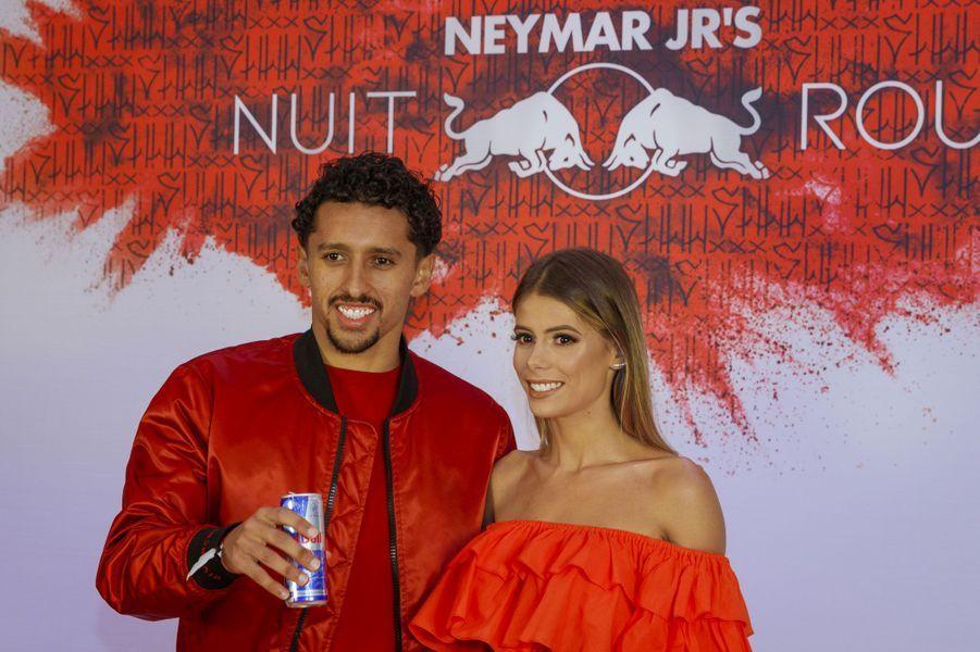 Marquinhos et son épouse