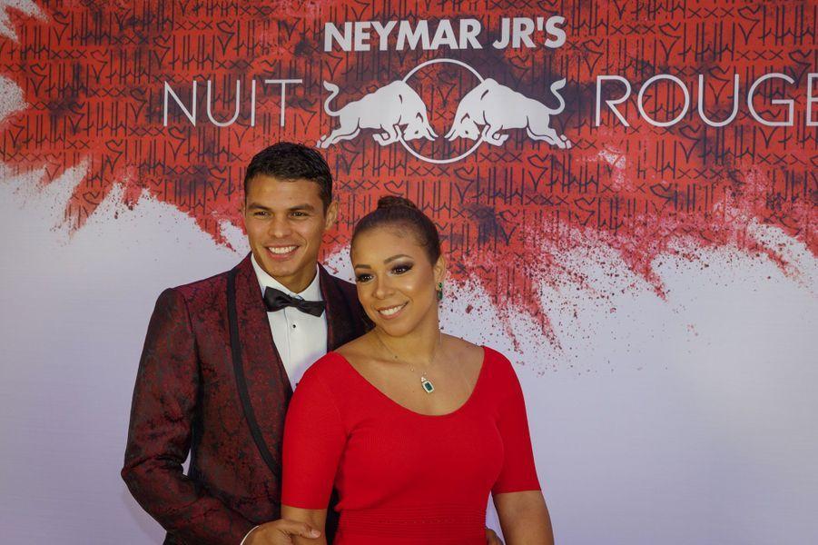 Thiago Silva et son épouse