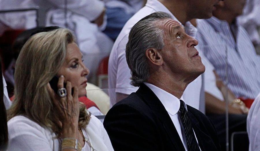 """Le président des """"Heat"""" de Miami et son épouse"""